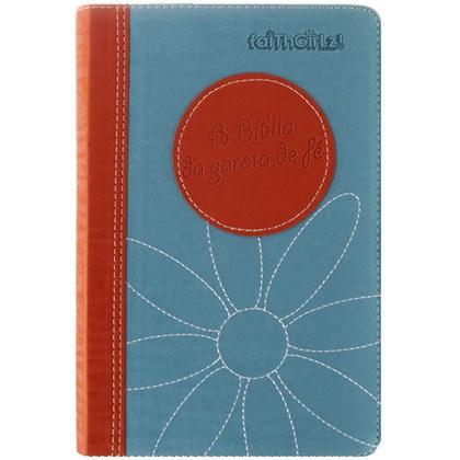 A Bíblia da Garota de Fé | NTLH | Laranja e Azul