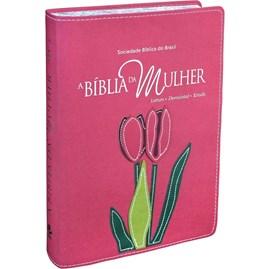 A Bíblia da Mulher | Letra Grande | ARA | Capa Goiaba Luxo Grande