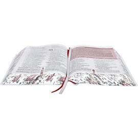 A Bíblia da Mulher | Letra Normal | ARA | Capa Branca Flores Luxo