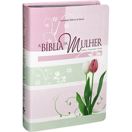 A Bíblia da Mulher | Letra Normal | ARA | Capa Couro Tulipa Luxo