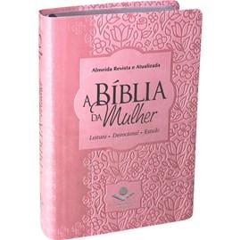 A Bíblia da Mulher | Letra Normal | ARA | Capa Rosa Luxo Claro