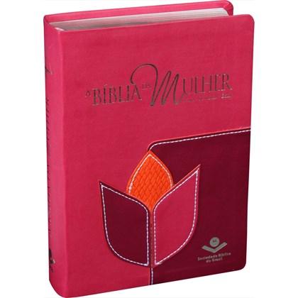 A Bíblia da Mulher | Letra Normal | ARC | Capa Flor Luxo