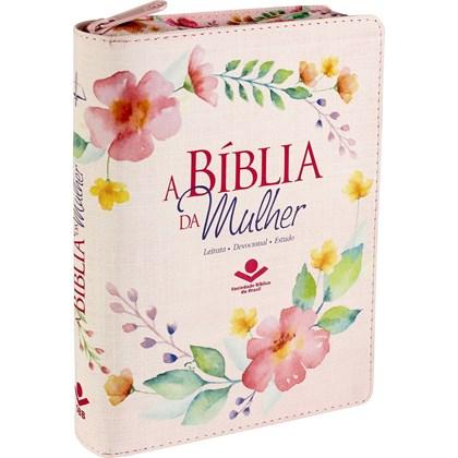 A Bíblia da Mulher | Letra Normal ARC | Capa Luxo Ilustrada Ziper | c/ Índice