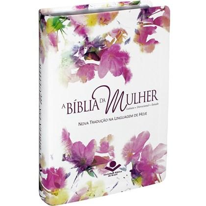 A Bíblia da Mulher   Letra Normal   NTLH   Capa Aquarela Luxo   c/ Índice