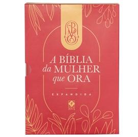 A Bíblia da Mulher que Ora - Edição Expandida | NVT | Letra Normal | Vinho