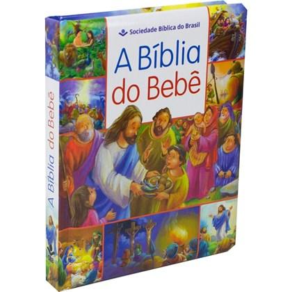 A Bíblia Do Bebê   Letra Normal   TNL   Capa Dura Ilustrada Azul