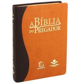 A Bíblia do Pregador | ARA | Capa Flexível PU Marrom Claro Escuro