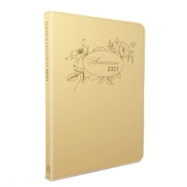 Agenda executiva 2021 | Capa Luxo Dourada