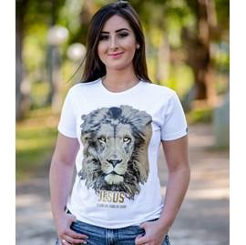 Baby Look Jesus Leão da Tribo | Branca | Pecado Zero | GG