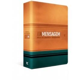 Bíblia - A Mensagem | Capa Luxo Laranja e Verde