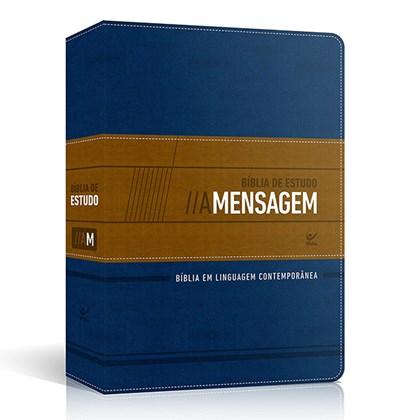 Bíblia A Mensagem de Estudo   Letra Normal   Azul