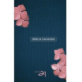 Bíblia Almeida Século 21   A21   Letra Média   Capa Dura   Feminina com Flores