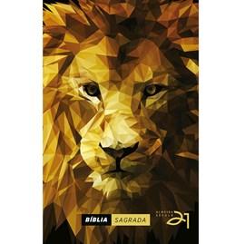 Bíblia Almeida Século 21 | A21 | Letra Média | Capa Dura | Lion Low Poly