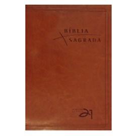 Bíblia Almeida Século 21 | A21 | Letra Normal | Marrom C/ Referências Cruzadas