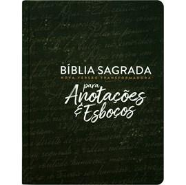 Bíblia Anotações e Esboços Preta | NVT | Letra Grande | Capa Dura