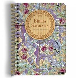 Bíblia Anote Espiral Calamo e Canela | NVI | Letra Normal | Capa Dura
