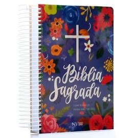 Bíblia Anote Espiral Céu Azul | NVI | Letra Normal | Com Espaço para Anotações