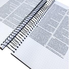 Bíblia Anote Espiral Dourado | NVI | Letra Normal | Com Espaço para Anotações
