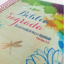 Bíblia Anote Espiral Ela está Vestida | NVI | Letra Normal | Com Espaço para Anotações