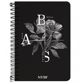 Bíblia Anote Espiral Flor de Inverno   NVI   Letra Normal   Com Espaço Para Anotações
