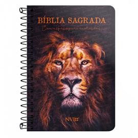 Bíblia Anote Espiral Leão Sereno | NVI | Letra Normal | Com Espaço Para Anotações