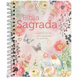 Bíblia Anote Espiral Plus Clássica Virtuosa | ARC | Letra Maior | Capa Dura