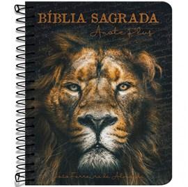 Bíblia Anote Espiral Plus Leão de Judá | ARC | Letra Maior | Capa Dura