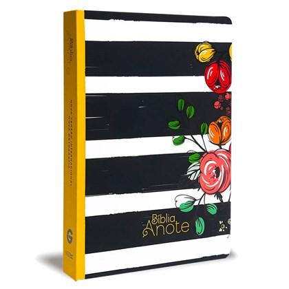 Bíblia Anote Listrada Flores | NVI | Letra Normal | Com Espaço Para Anotações Capa Soft-touch