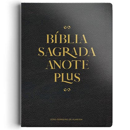 Bíblia Anote Plus | ARC | Letra Maior | Capa Semi-Luxo Preta