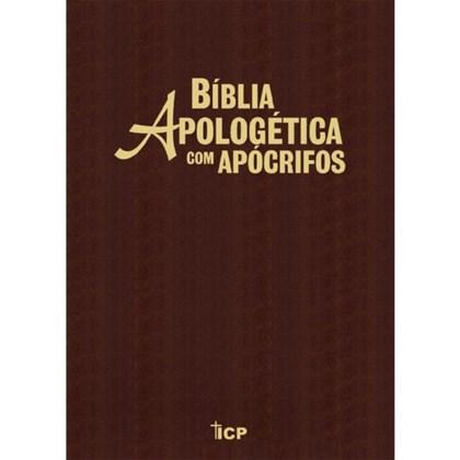 Bíblia Apologética com Apócrifos Marrom   Capa Luxo
