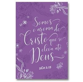Bíblia Aroma de Cristo | NVT Letra Grande | Capa Soft Touch Lilás