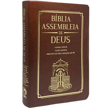 Bíblia Assembleia de Deus | ARC | Marrom Capa Igreja