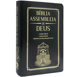 Bíblia Assembleia de Deus   ARC   Preta Capa Igreja