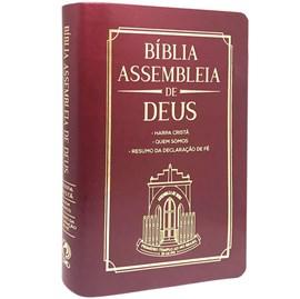 Bíblia Assembleia de Deus   ARC   Vinho Capa Igreja