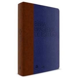 Bíblia Brasileira de Estudo | Azul e Marrom