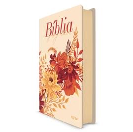 Bíblia Buquê Creme| NVI | Letra Gigante | Capa Soft-Touch