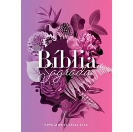 Bíblia Buque Flores Roxo | NAA | Letra Normal | Capa Dura Ilustrada