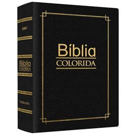 Bíblia Colorida Jovem | RC | Letra Normal | Capa Luxo Preta