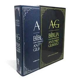 Bíblia com Comentários Antonio Gilberto | ARC | Letra Normal | Capa Azul