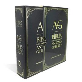 Bíblia com Comentários Antonio Gilberto   ARC   Letra Normal   Capa Preta