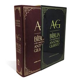 Bíblia com Comentários Antonio Gilberto | ARC | Letra Normal | Capa Vinho