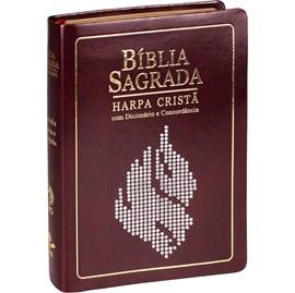 Bíblia Concordância, Dicionário e Harpa Cristã | Letra Grandel | ARC | Marrom Nobre | c/ Índice