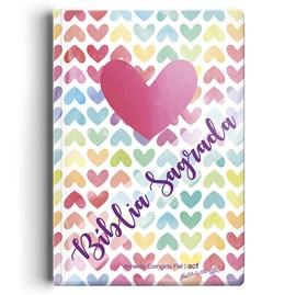 Bíblia Coração Color | ACF | Letra Normal | Capa Semi-Luxo