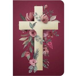 Bíblia Cruz Flores | NVT | Letra Normal | Capa Dura