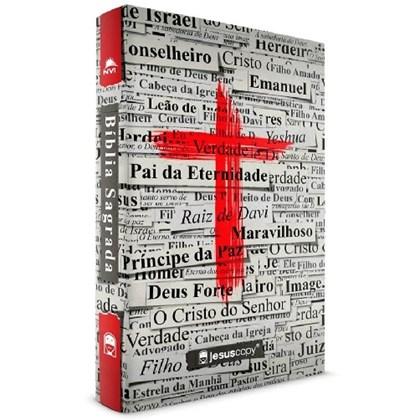 Bíblia Cruz Jesus Copy | NVI | Letra Normal |  Capa Dura