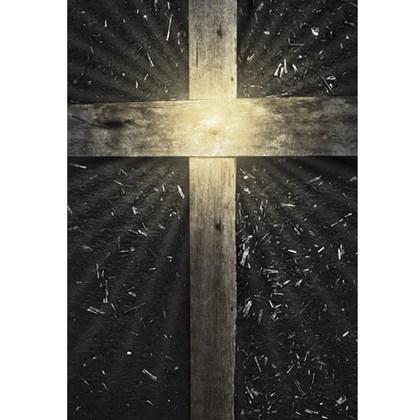 Bíblia Cruz Madeira   NAA   Letra Normal   Capa Dura