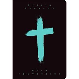 Bíblia Cruz Menta YouVersion   NTLH   Letra Grande   Capa Soft-Touch