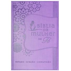 Bíblia da Mulher de Fé   Letra Normal   NVI   Roxa