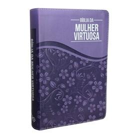 Bíblia da Mulher Virtuosa | ARC | Letra Normal | PU Luxo Purple