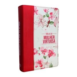 Bíblia da Mulher Virtuosa | ARC | Letra Normal | PU Luxo Red